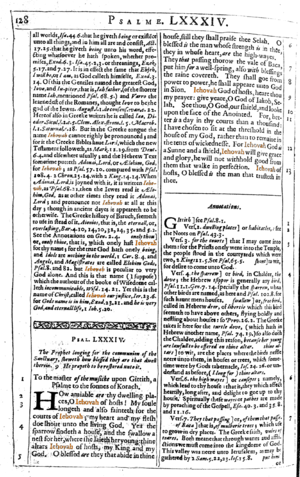 Henry Ainsworth - A page from Ainsworth's Annotations  using the divine name Iehovah.