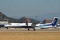 ANA DHC8-Q402(JA843A) take off @MYJ RJOM (2419295516).jpg