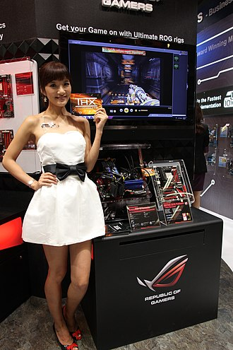 Asus - ASUS promotional model and ROG products