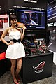 ASUS promotional model and Republic-of-Gamers products at Computex 20100603.jpg
