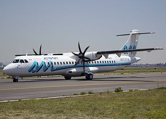 Aeromar - Aeromar's current livery, as seen on an ATR 72 at Mexico City.