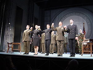 Aaron Sorkin - A Few Good Men at London's Theatre Royal Haymarket on August 31, 2005.