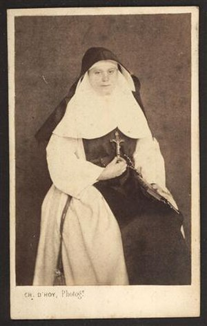 Sisters of Charity of Jesus and Mary - A Sister of Charity of Jesus and Mary (ca. 1900)