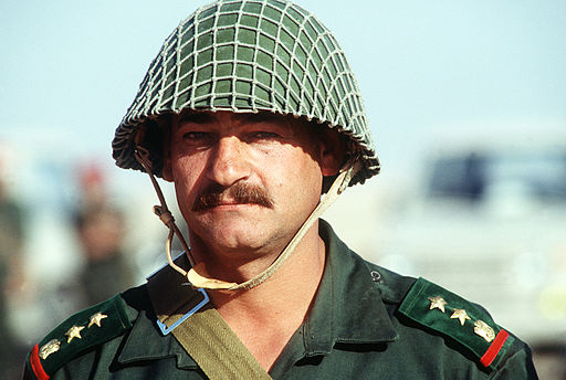 A Syrian army officer during the Gulf War