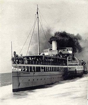 PS Weeroona (1910) - Image: A and J Inglis No 290 Weerdoona (1910)
