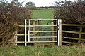 A gate and a plank bridge on a footpath west of Hunningham - geograph.org.uk - 1573939.jpg