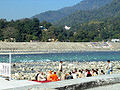 A gathering by the Ganges at Rishikesh.jpg