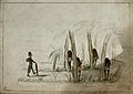 A missionary enters a jungle where tribesmen wait in ambush Wellcome V0049577.jpg