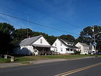 Melfa, Virginia - Houses on Main Street, July 2018