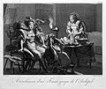 A seated Greek woman on an obstetrical stool being held in p Wellcome L0006867.jpg
