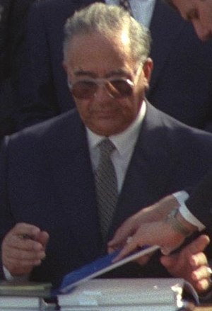 Abdelsalam al-Majali - Image: Abdelsalam al Majali Seal of the peace treaty between Israel and Jordan