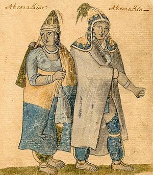 St. Francis Raid - 18th-century depiction of an Abenaki couple