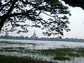 Abhaya Lake and the pagoda.jpg