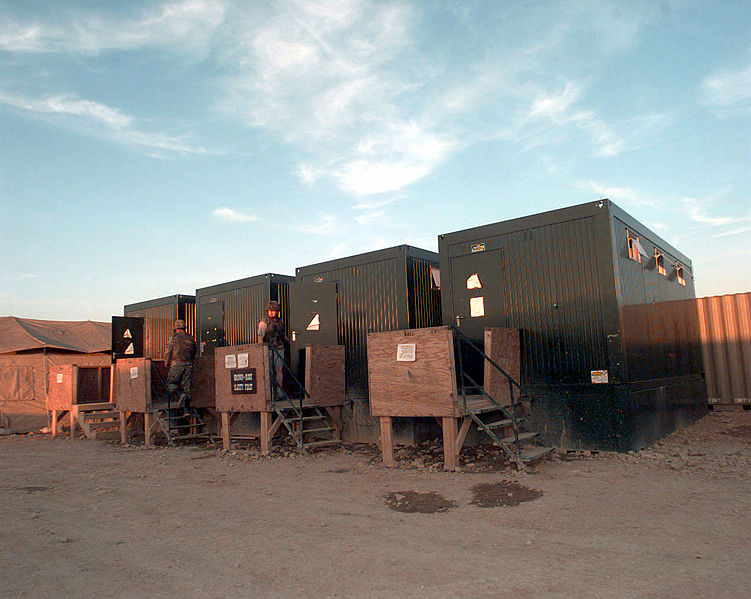 File:Abolution container latrines in Steel Castle Base Camp in Tuzla (East), Bosnia.jpg