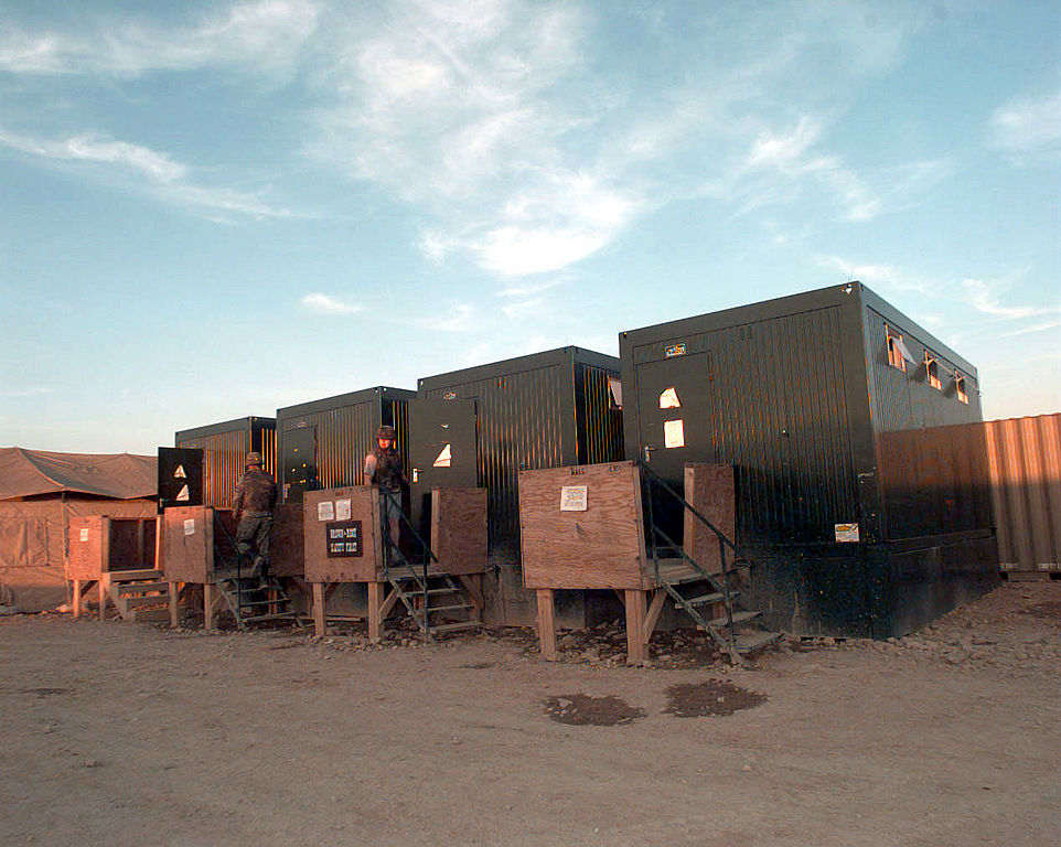 Used Trucks For Sale In Md >> File:Abolution container latrines in Steel Castle Base Camp in Tuzla (East), Bosnia.jpg ...
