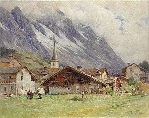 Achille Beltrame - Courmayeur by Beltrame (1928)