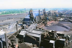 McLouth Steel - A photograph showing the majority of the Trenton, MI plant.
