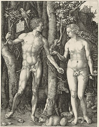 Adam and Eve (Dürer) - Image: Adam Eva, Durer, 1504