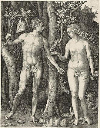 Young Hare - Image: Adam Eva, Durer, 1504