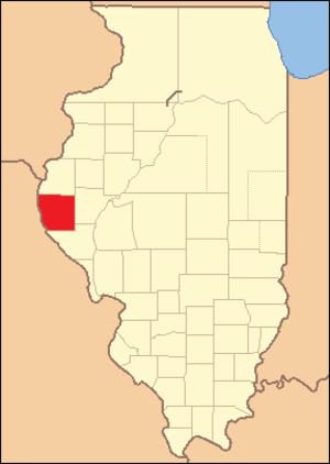 Adams County, Illinois - Image: Adams County Illinois 1829