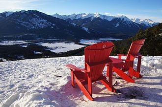 Adirondack chair - Chairs with contoured backs and seats in the Bow Valley, Banff, Alberta, Canada