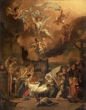 painting of the Adoration of the shepherds