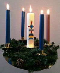 advent wreath wikipedia. Black Bedroom Furniture Sets. Home Design Ideas