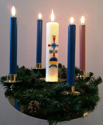 Advent wreath - Image: Adventwreath