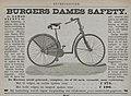 Advertentien. Burgers Dames Safety, 1890.jpg
