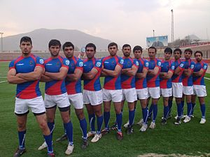 Rugby union in Afghanistan - Posed photograph of the Afghan national team