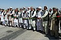 Afghan civilians and members of the Farah provincial government gather at a ribbon-cutting ceremony to celebrate the opening of Masaw Road in Masaw, Afghanistan, July 4, 2011 110704-A-BF670-001.jpg