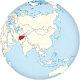 Afghanistan on the globe (Asia centered).svg
