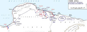 Operation Crusader - Map of movements and battles during Operation Crusader
