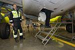 AirBaltic Bombardier CS300 mainenance (33093274061).jpg