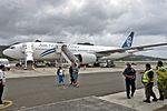 Air New Zealand Boeing 777-200ER ZK-OKF NZ46 AKL- RAR on arr RAR (22966237663).jpg