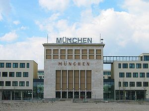 Munich-Riem Airport - The former main entrance surrounded by new buildings