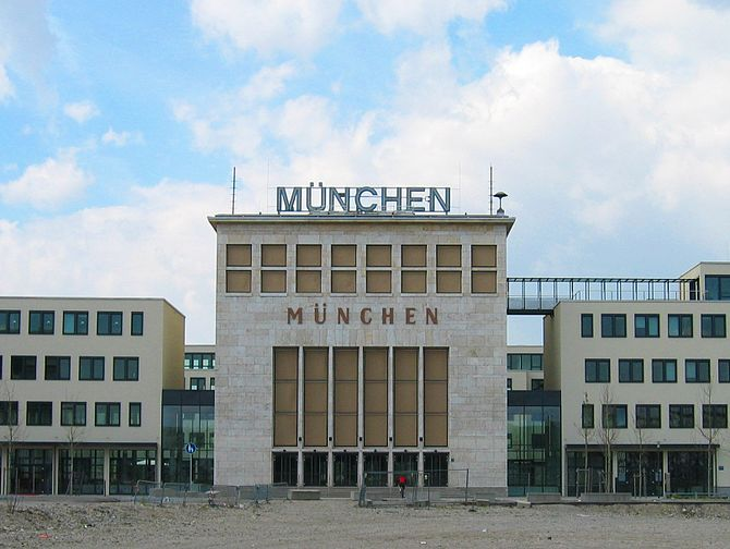 Former airport Munich Riem, main entrance hall...