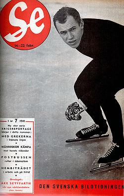 Åke Seyffarth på omslaget af Se 1941