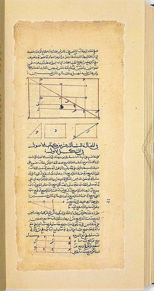 Al-Sijzi - A page from Al Sijzi's geometrical treatise.