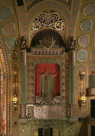 Alabama Theatre - One of the organ screens in 1996.