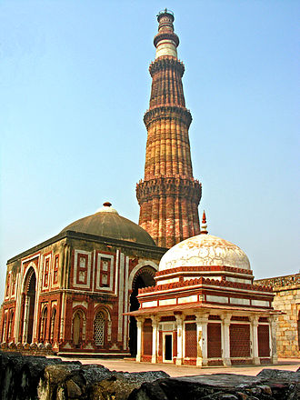 Delhi Sultanate - Image: Alai Gate and Qutub Minar