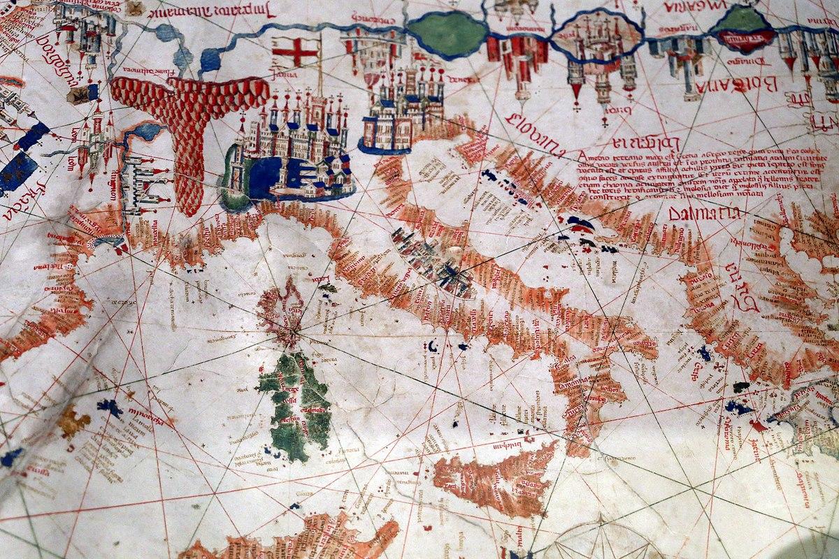 Mediterraneo Cartina Geografica.File Albino De Canepa Carta Nautica Del Mediterraneo 1480 Roma Societa Geografica Italiana 02 Italia Jpg Wikimedia Commons