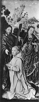 Albrecht Bouts - Saint Andrew and Saint Catherine with Donor.jpg