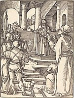 Albrecht Dürer, Christ before Pilate, probably c. 1509-1510, NGA 6765.jpg