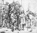 Albrecht Dürer - Five Lansquenets and an Oriental on Horseback - WGA7271.jpg