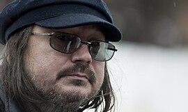 Алексей Балабанов на съёмках фильма «Кочегар»