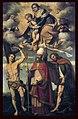 Alessandro Bonvicino (also Buonvicino) (c. 1498 – December 22, 1554), more commonly known as Moretto, or in Italian Il Moretto da Brescia (1498-1555), Madonna col Bambino in gloria con i santi Rocco, Zenone e San Sebastiano.jpg