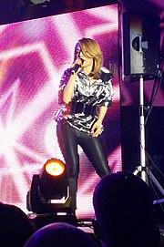 Alexia on stage in Sofia (2015)