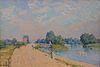 Alfred Sisley The Road to Hampton Court 1874 Neue Pinakothek Munich München.JPG