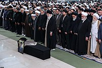 Ali Khamenei Praying for Ayatollah Hashemi Shahroudi011.jpg